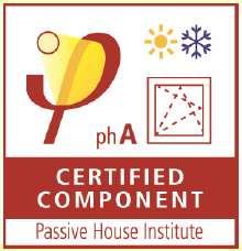 Zertifikat des Passivhaus-Instituts in Darmstadt